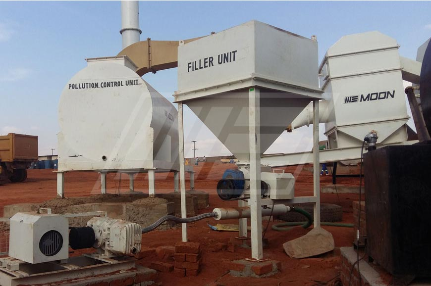 Double Drum and Counter Flow Asphalt Plant in Guyana