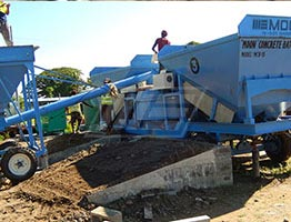 Mobile Concrete Batching Plant in Uzbekistan